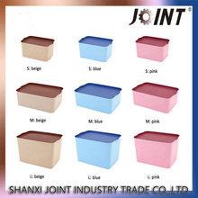 Transparent custom plastic storage container with wheels