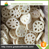 Chinese factory organic IQF deep frozen lotus root vegetables