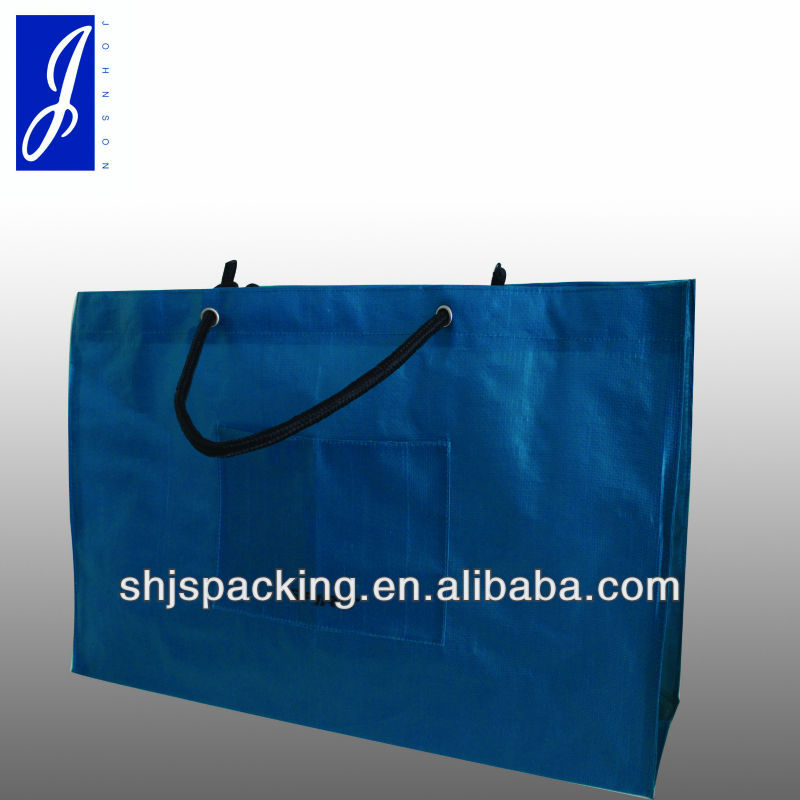 pp woven shopping bag with grommets