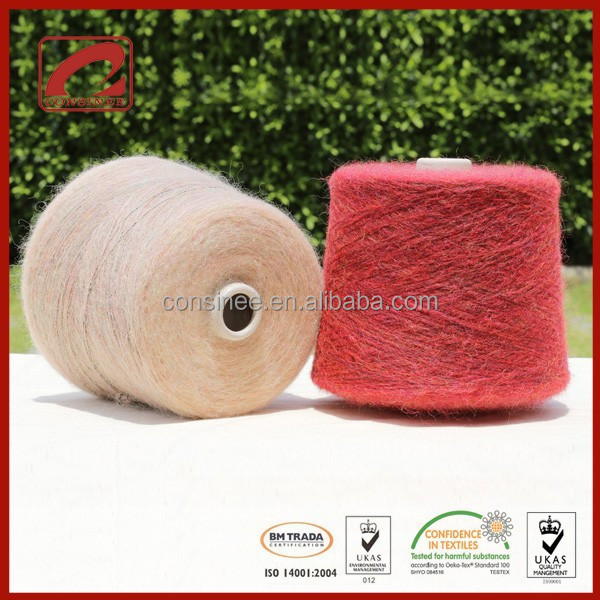 Top Line most popular fancy brushed yarn of premium angola goat hair