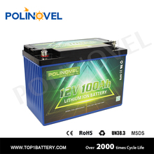 lifepo4 12v 100ah deep cycle battery with bms