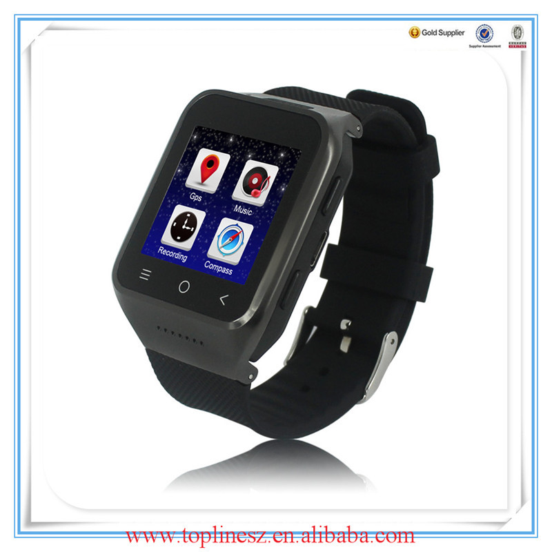 High quality GPS and MP4 smart watch touch screen smart watch