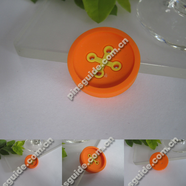 Wholesale Custom Logo Soft PVC Round Blank Button Badges For Coat Accessories