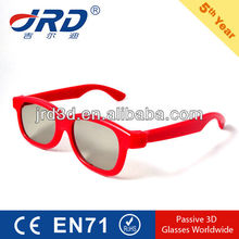 red color frame plastic 3d glasses