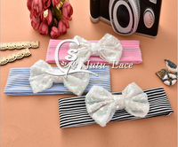 The new children's hair with baby Gingham sequined Bow Headband headbands wholesale
