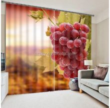 New arrival charming 108inch polyester 3d curtain with grapes design