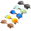 Promotion Cheap Black Uv400 Round Mirror Mens Sunglasses