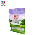 Matte Finished Foil Flat Bottom Plastic Food Packaging Bag with Window Zipper