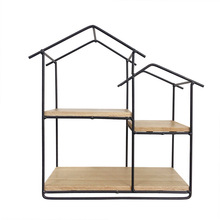 Living room furniture house design black metal wire wall rack <strong>shelf</strong> for home decor new