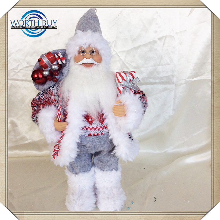 Alibaba China Supplier Customized Santa Claus White Porcelain Christmas Ornament