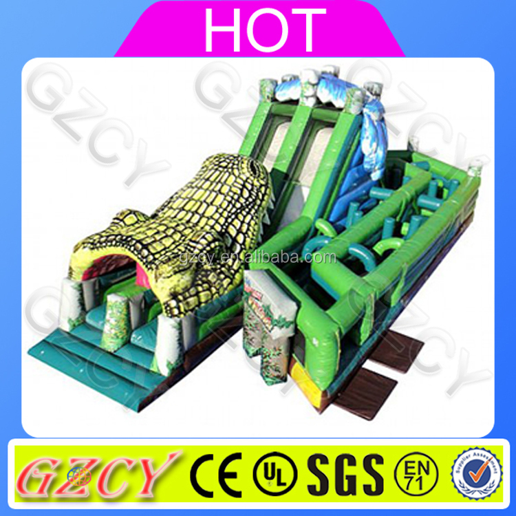 Outdoor Inflatable Obstacle Course Equipment, Cheap Air Bouncer Inflatable Obstacle Course