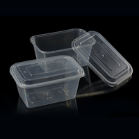 Fast food container disposable take away lunch box plastic