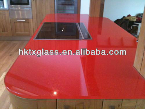 Starfire glass worktop with AS/NZS 2208:1996 certificate