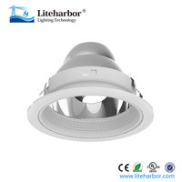 "Aluminum 6"" 75W Line Voltage Trim with reflector and Baffle,Recessed LED downlight"