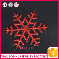 foam snowflower craft red style soft colorful snow flower