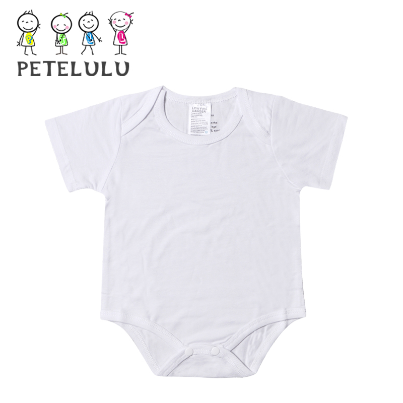 In Stock Product Infant Clothes Clothing Bamboo Fabric Cotton Plain White Baby Romper