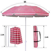 Beach umbrella with logo printing