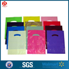 Plastic Colored Customized die cut Patch Handle Bag