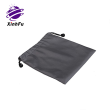 Custom promotion silk fabric pouch with drawstring end from XHF