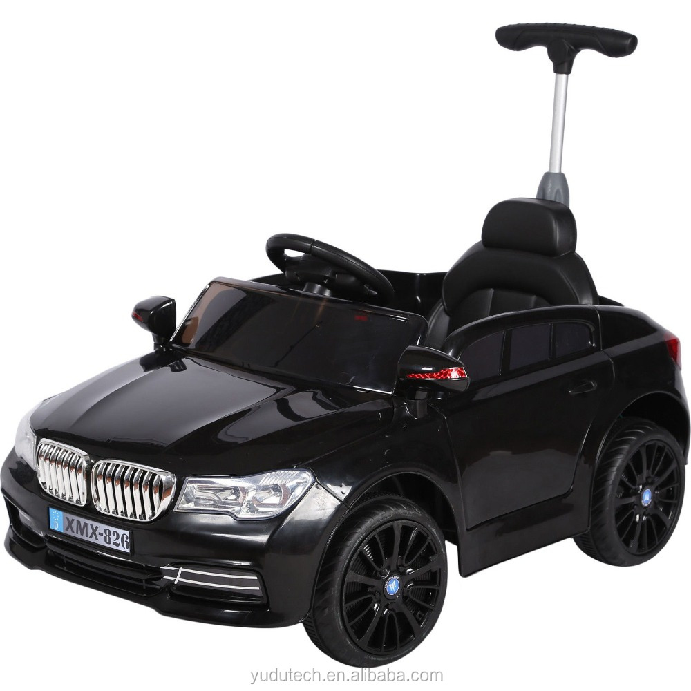KULABERBMW Style 12v Child's Ride On Car With Parental Push Handle