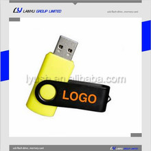 Swivel customed logo usb flash drive, Christmas gifts usb driver, Factory price real capacity usb pen driver