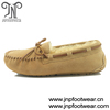 9028 Chestnut leather moccasin shoes slipper