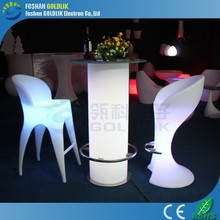 2015 newly stylish rechargeable rgb glow bar table / led furniture with remote control