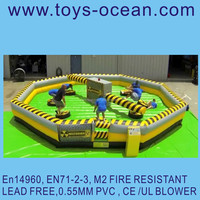super quality Inflatable wipeout /Mechanical Rodeo Bull/commercial game machine