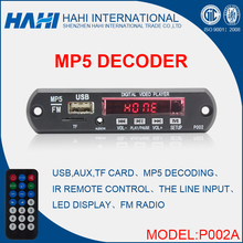 JR-P002A Hot Sale Audio Video Song Mp3 Mp4 Mp5 Deocder Player Board, Cheaper Price Movie Decoder Module