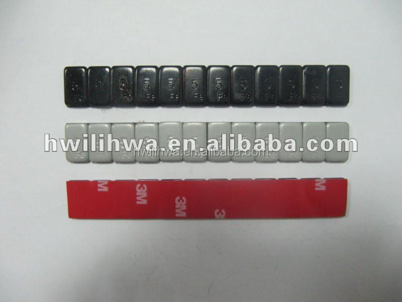 Iron adhesive wheel weight with colorful tape