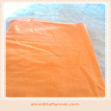 100% cotton safety orange dyed flannel fabric
