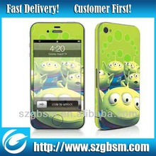 New arrival !!! Cartoon vinyl skin sticker for iphone 5 cover sale MOQ only 10pcs / design