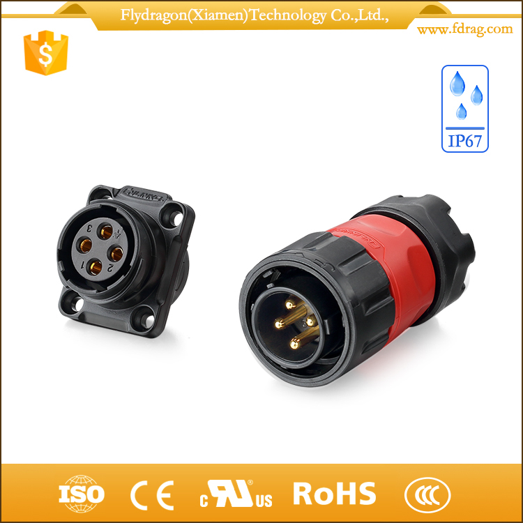 4 pin m20 automotive ecu ip67 female power cable connector