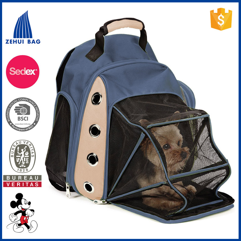 Mesh Multiple Deluxe Dog Carrier Travel Backpack Double Shoulders Straps Bag for Small Pet Puppy Cat Red Grey