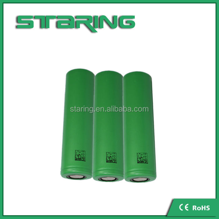 Green color US18650 VTC3 Battery 3.7V 18650 V3/VTC3/VTC4/VTC5 battery