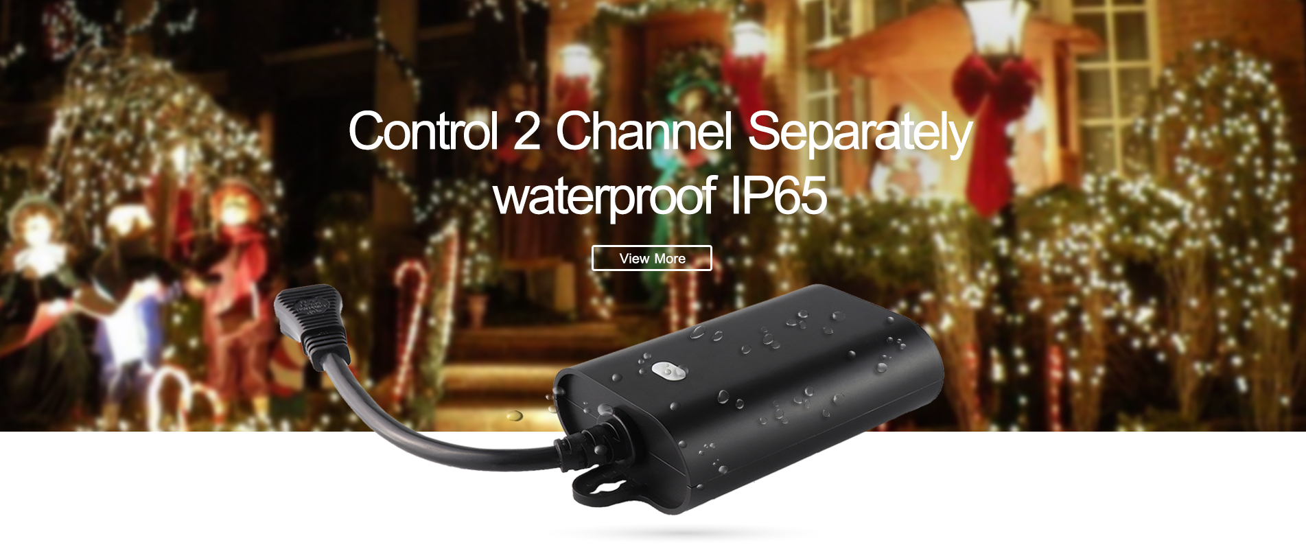 Z-Wave Dual Smart Waterproof Electrical Wire Connector Plug