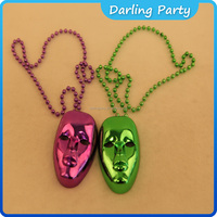 Factory direct sale plating plastic Halloween necklace and mask