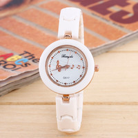 Ladies Classical Music Notation Ceramic Strap Watches