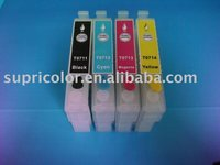 refillable Ink Cartridge for epson T0711-T0714 with ARC chip