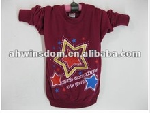 2012 fashion five-pointed star printing pure cotton children's T-shirt