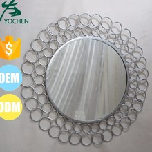 Bath Silver Metal Wall Decoration Mirror with Round Bubble