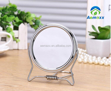 2 use bathroom double face 360 degree rotate 1x 2x magnifying hanging telescopic cosmetic mirror for girls