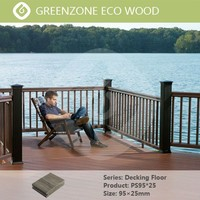 SGS certificate outdoor wood plastic composite decking wpc fence