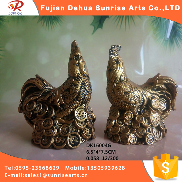 Wholesale gold tai hen chicken statues decoration