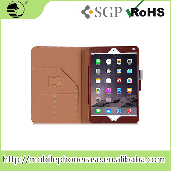 2 Layer Shock Proof PU Leather Case For iPad mini 4