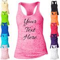 2015 Most Popular Womens Personalized Racerback Burnout Tank Top Custom Printed Loose Fit Workout Tank Top Design Your Own Tank