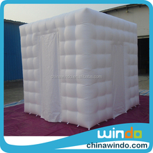 white and black custom cheap used portable colorful LED Lights inflatable weeding cube tent photo booth enclosure for sale