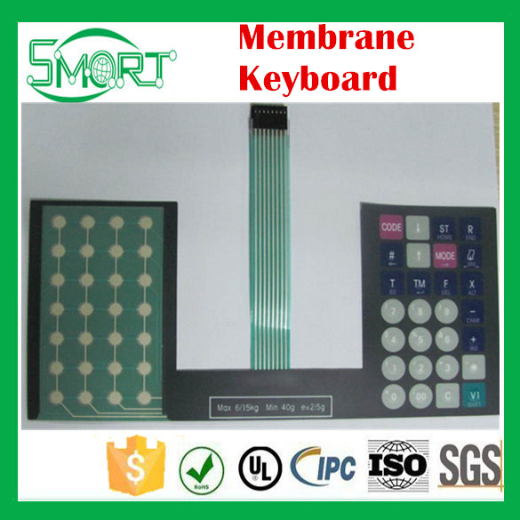 Smart bes Membrane Keyboards with Embossed Design Metal Dome Tactile and Polycarbonate Overlay Membrane Keyboard