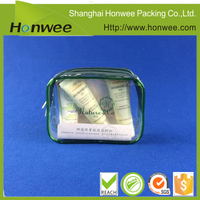 SGS ISO9001:2008 certified cheap transparent PVC cosmetics bag with nylon zipper