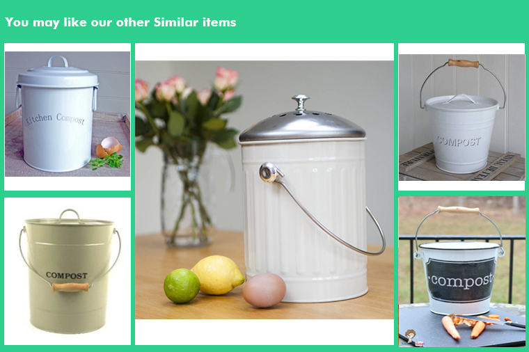 Hot sale Kitchen metal compost bin of waste container